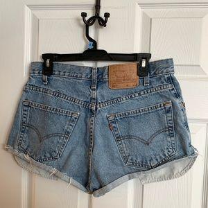 Womens Levi Denim Jean Shorts